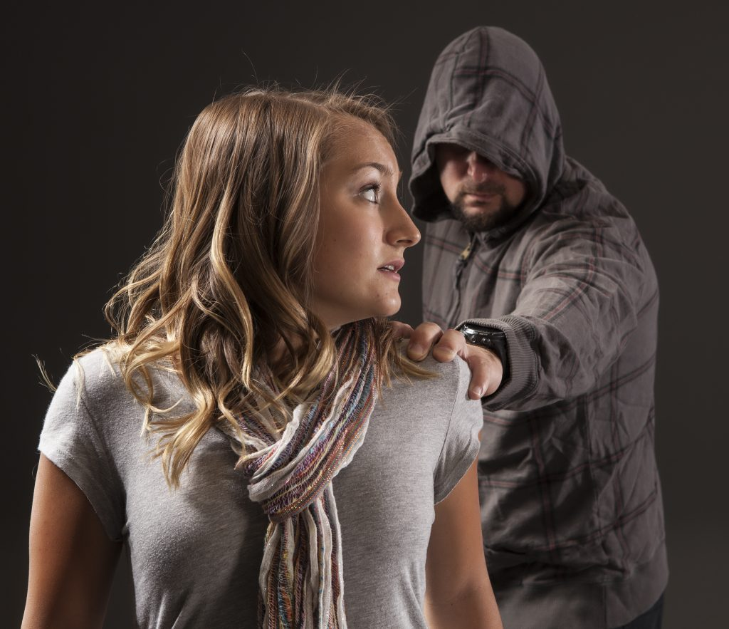 woman about to be attacked